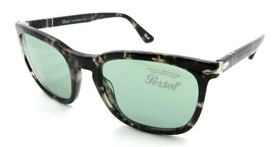 Persol Sunglasses PO 3193S 1063/52 55-21-145 Spotted Grey Black / Green Italy