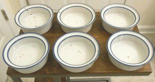 """Set of 6 Dansk BLUE MIST 6"""" Cereal Soup Straight Edge Bowls"""