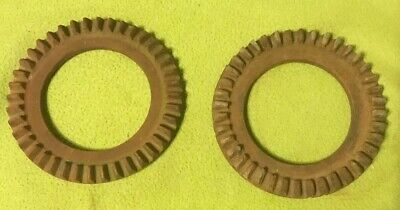 Metal Ware ~ Two Gears ~ Planter Plate Parts ~ Steampunk Art Supply~