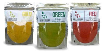 MAXX Organics Best Value GREEN GOLD, REDS SUPERFOODS POWDER Comp. Organifi