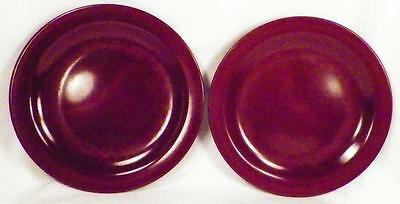 2 Boonton Ware Melamine Melmac Bread Plates Maroon Mid Century Modern 106-6