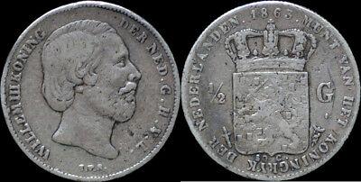 Netherland Willem III 1/2 gulden 1863