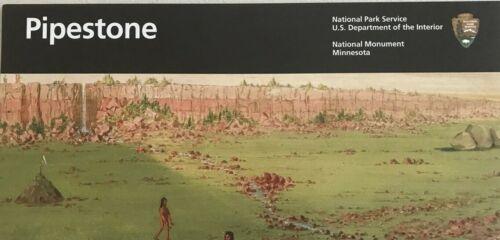 New 2018 PIPESTONE NM - Minnesota  NATIONAL PARK SERVICE UNIGRID BROCHURE  Map