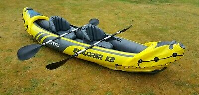 Intex Explorer K2 2-Person Inflatable Kayak (with paddles & pump) - Used (twice)