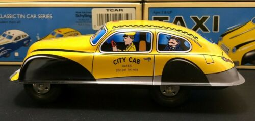 Scylling Classic Vintage Style Tin Taxi Cab W/ Orig.Box>Mint W/ Friction Drive