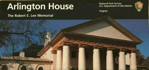 New 2005 ARLINGTON HOUSE Robert E Lee NATIONAL PARK SERVICE UNIGRID BROCHURE Map