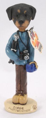 Dog Photographer figurine, Rottweiler