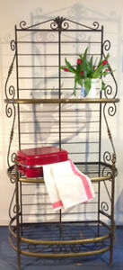Vintage French Cast Iron / Bakers Rack / Display / Plant Stand