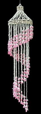 Shell Wind Chime Pink Bubble Seashell Spiral 24 inch Free Shipping](Seashell Wind Chime)