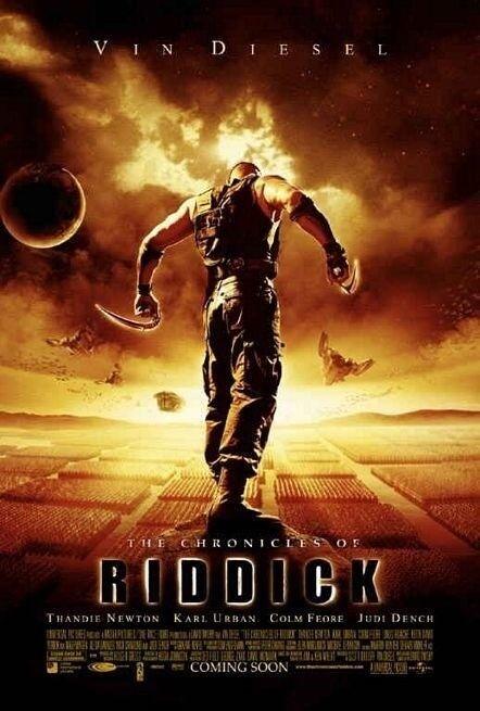 Chronicles Of Riddick Movie Poster 2 Sided Rare Original Ver B 27x40 Vin Diesel