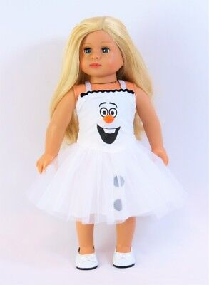 Frozen Snowman Dress Halloween Costume Doll Clothes For 18