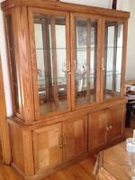 Hutch for sale (Dining table also available)