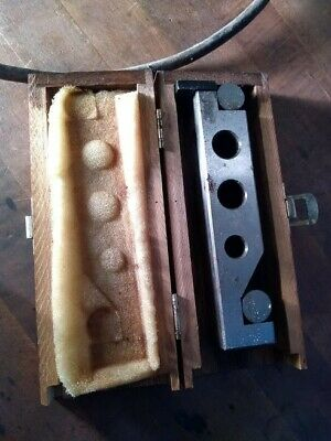 Sine Bar Precision Made Length 6 14 End To End. Machinist With Wood Box