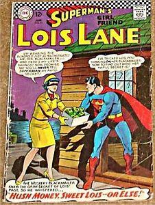 LOIS-LANE-71-VG-1958-DC-SERIES-SUPERMANS-GIRLFRIEND-1967-issue
