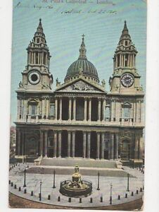 St Pauls Cathedral London 1904 Postcard 120a