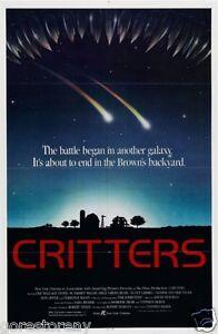CRITTERS-Movie-Poster-Sci-Fi-Horror-80s-Aliens-Polish-Art-Cult-Classic-Rare