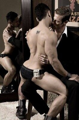 Shirtless Male Hunk Beefcake Lap Dance Hot Gay Interest Men PHOTO 4X6 F1247