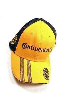 dc1b67649 Continental Yellow Black Racing Hat Cap Exotic Car Tires Strapback Martin  Sports