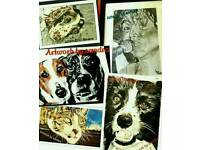 Pet / portrait sketches & paintings