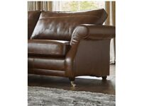 NEW Sofology Eleanor 3 Seater Brown Leather Sofa - Available Immediately - Reduced £1100 now £695