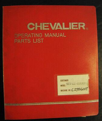 Chevalier Super 612 618 818 Surface Grinder Manual Parts List