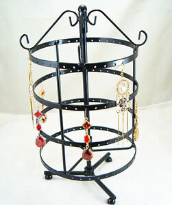 Black-Jewelry-Holder-Display-Rack-For-Earrings-72-Pair