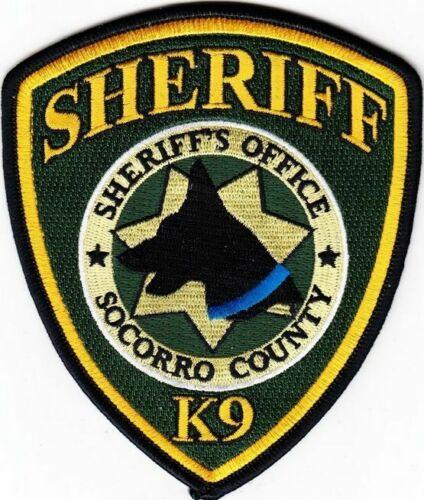 Socorro County New Mexico Sheriff Dept K9 K-9 canine dog team blue line NM