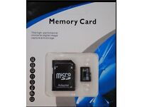 256 gb micro mini sd memory card , reader and adapter brand new