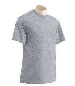 NEW men's PLAIN HEAVY COTTON T-SHIRT VARIOUS COLOURS sizes S - XXL