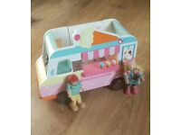 Early Learning Centre ELC Wooden Doll House Rosebud Ice cream Van