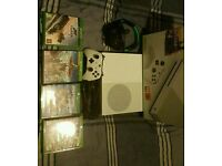 Xbox One S plus 4 games and headset