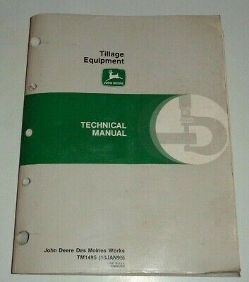 John Deere Plow Cultivator Chisel Disk Harrow Mulch Tiller Hoe Technical Manual