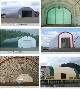 Large Heavy-Duty Straight Wall Fabric Storage Buildings – Any Si