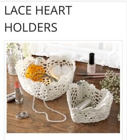 Lace Heart Holders