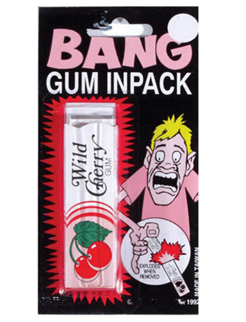 Bang Gum In Pack Explode Bang Prank Novelty Trick Gag Joke Magic Party Toy Gift