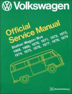 VW Volkswagen Station Wagon / Bus (Type 2) 1968 - 1979 Service Ma