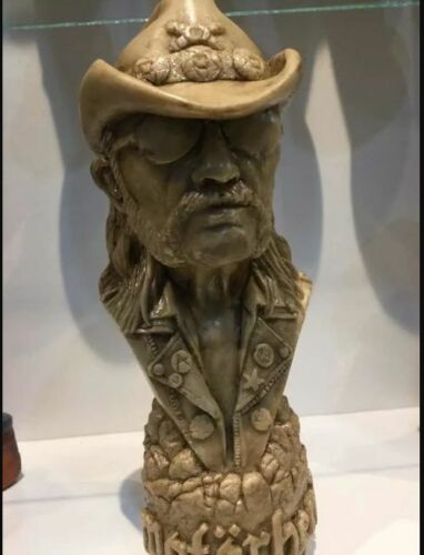 LEMMY KILMISTER BUST -- Resin Figure MOTORHEAD Statue Sculpture Music Decor cd !