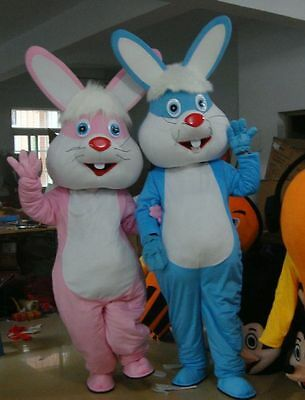 NEW Adult Easter Bunny Mascot Costume Suits Birthday Payrty Game Cosplay Dress - Adult Easter Dresses