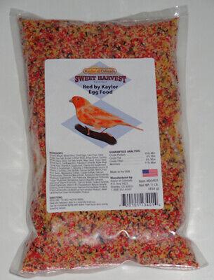 Parrot Food Bird Kaylor of Colorado Parakeet Sweet Harvest Red Egg Pet Food 1lb