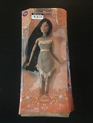 """Disney Store Classic Princess Pocahontas Doll 12"""" NIB America Native barbie"""