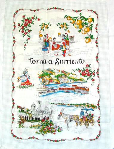 Sorrento, Italy Souvenir Linen Tea Towel - Kitchen Towel, Made in Italy