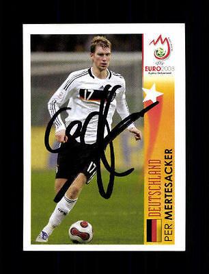 Per Mertesacker Deutschland Panini Sammelbild Euro 2008 Original Sign+ A 154628