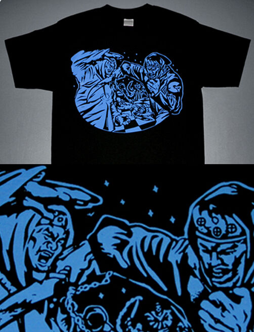 New Liquid Swordz GZA rap  shirt wutang wear wu blue hip hop clan Caj mear  Lrg