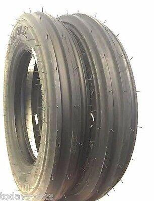 Two New 4.00-15 Carlisle Tri-rib 3 Rib Front Tractor Tires Usa Made W Tubes