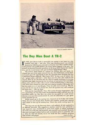 1956 THE DAY A MAN BEAT A TRIUMPH TR-2 ~ ORIGINAL ARTICLE / AD