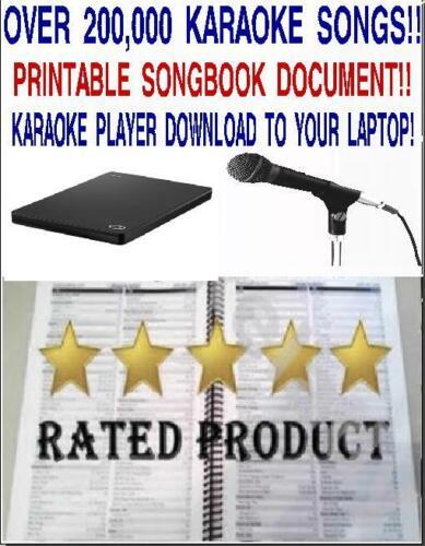 Karaoke-Harddrive-220,000-Karaoke-Songs--Player & Printable song book