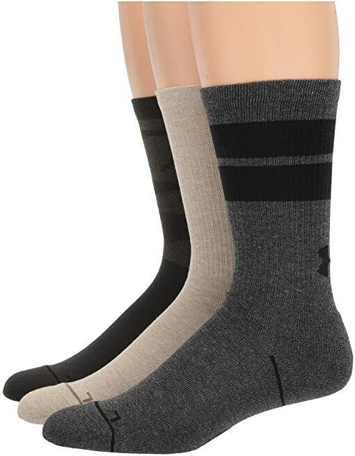 Under Armour UA Phenom Training Crew Socks - 3 Pack - Men 8-