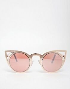 Quay Rose Gold Invader Cat Eye Sunglasses