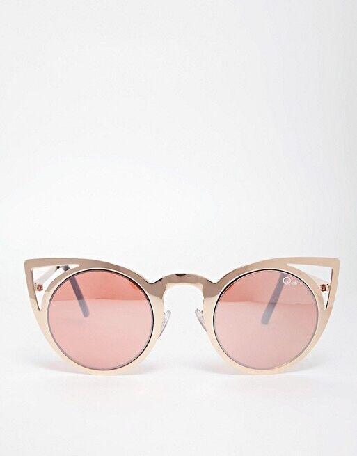 555ec07651b Quay Rose Gold Invader Cat Eye Sunglasses
