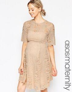 ASOS - Lace Angel Sleeve Blush Dress